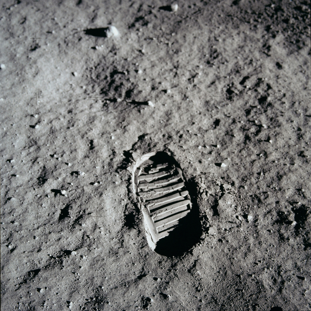 moon landing footprint