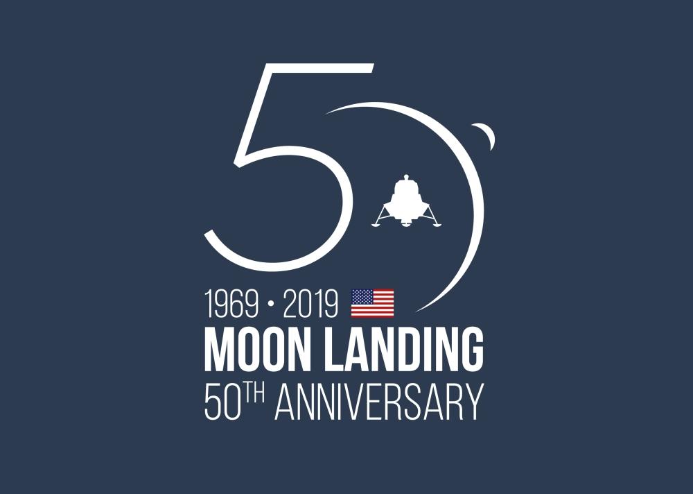 moon landing logo