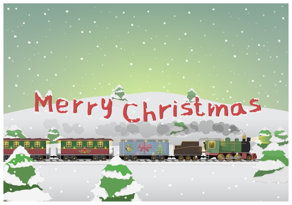 Merry Christmas Train